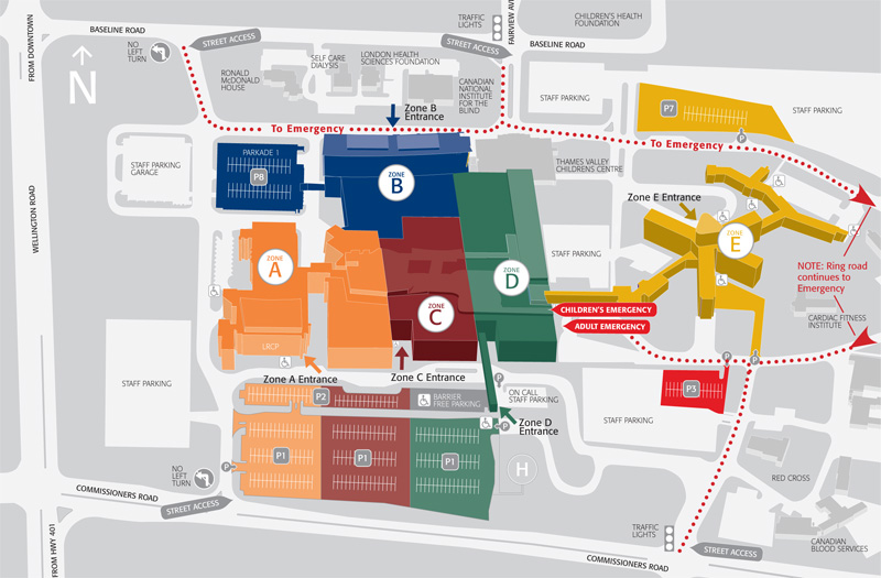 Health Sciences Centre Map You asked us | London Health Sciences Centre   INSIDE magazine