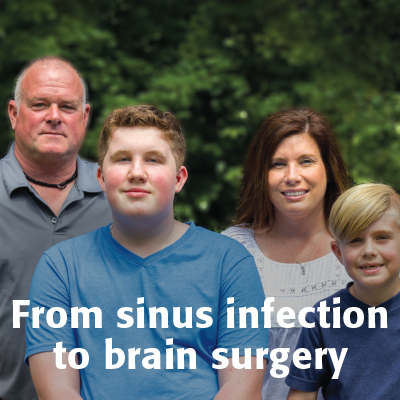 From sinus infection to brain surgery