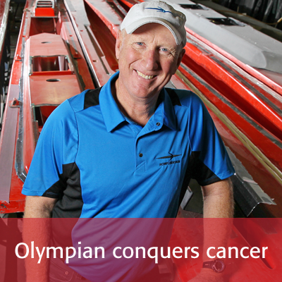 Olympian conquers cancer