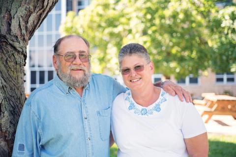 Donald McKay (left) and his wife, Monica, are grateful for the skilled work of LHSC's trauma team.