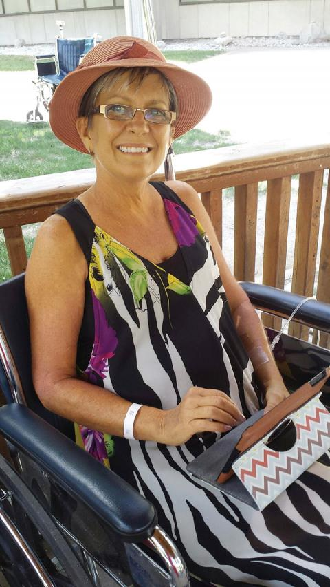The day before her liver transplant, Janice Corbin sat in the gazebo at University Hospitaln and joined her daughter's wedding celebration in Owen Sound using Face Time.