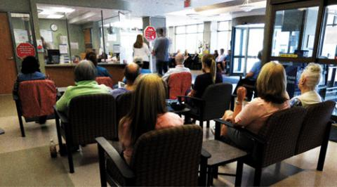A Busy Emergency Department Waiting Room At Victoria Hospital