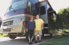 Debbie and Ted Worley and their 40-foot motorhome